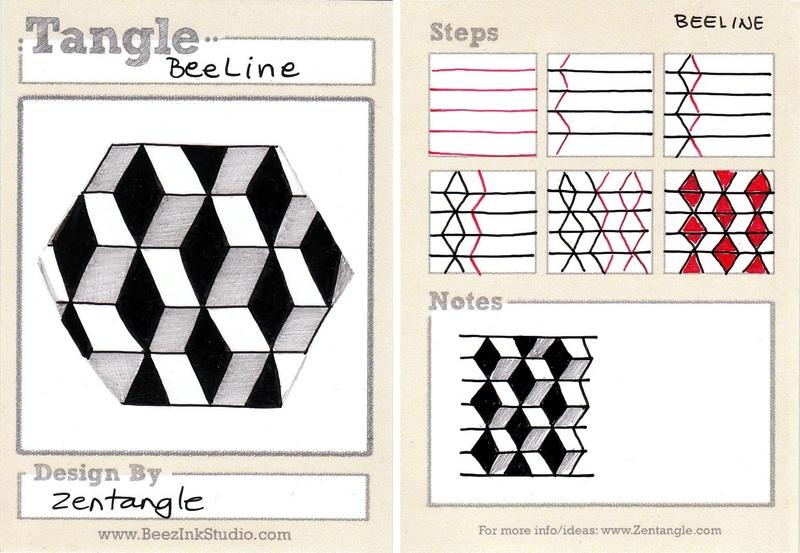 B Zentangle Patterns & Stepouts Beelin10