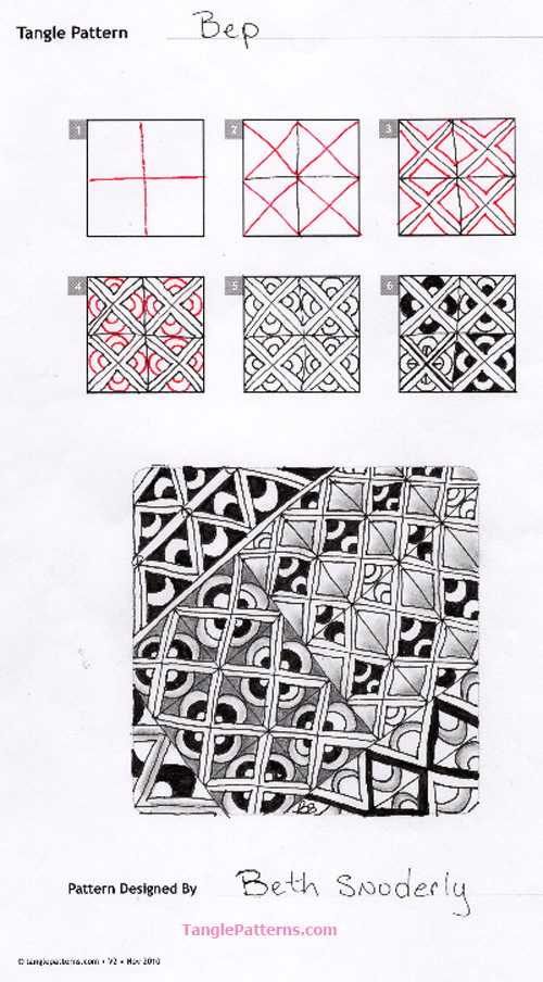 B Zentangle Patterns & Stepouts Bep-st10