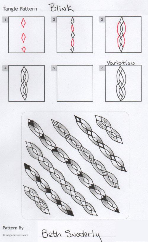 B Zentangle Patterns & Stepouts Blink-10