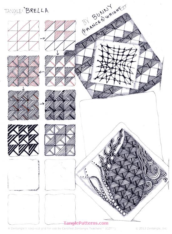 B Zentangle Patterns & Stepouts Brella10