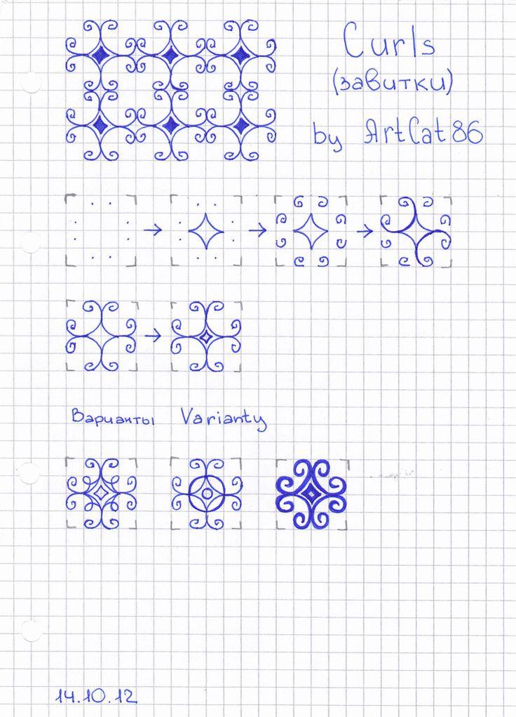 C Zentangle Patterns & Stepouts Curls10