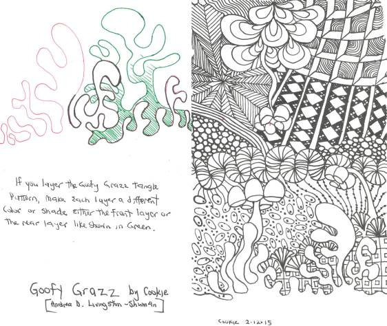G Zentangle Patterns & Stepouts Goofy_10