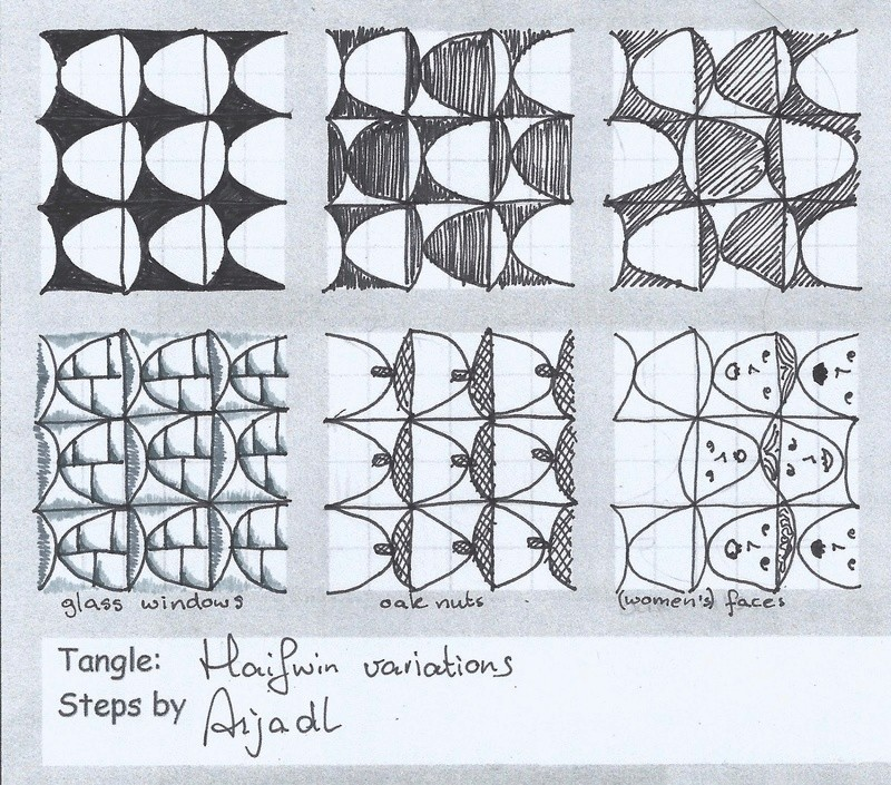 H Zentangle Patterns & Stepouts Haifwi11