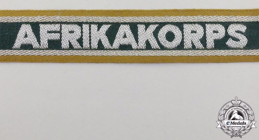 Bandes de bras sous-officier Feldgendarmerie / Afrikakorps. Authentification. Captur35