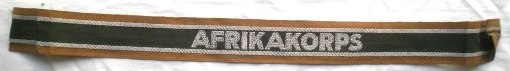 Bandes de bras sous-officier Feldgendarmerie / Afrikakorps. Authentification. P4232716
