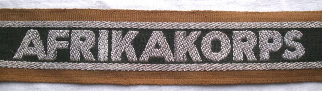 Bandes de bras sous-officier Feldgendarmerie / Afrikakorps. Authentification. P4232718