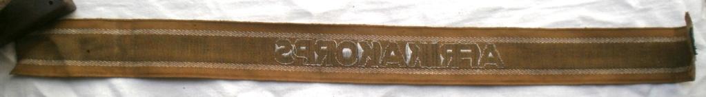Bandes de bras sous-officier Feldgendarmerie / Afrikakorps. Authentification. P4232719