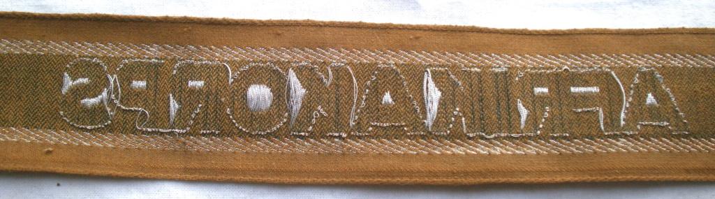 Bandes de bras sous-officier Feldgendarmerie / Afrikakorps. Authentification. P4232721
