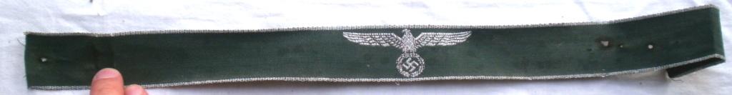 Authentification d'une bande de bras des douanes allemandes P4232811