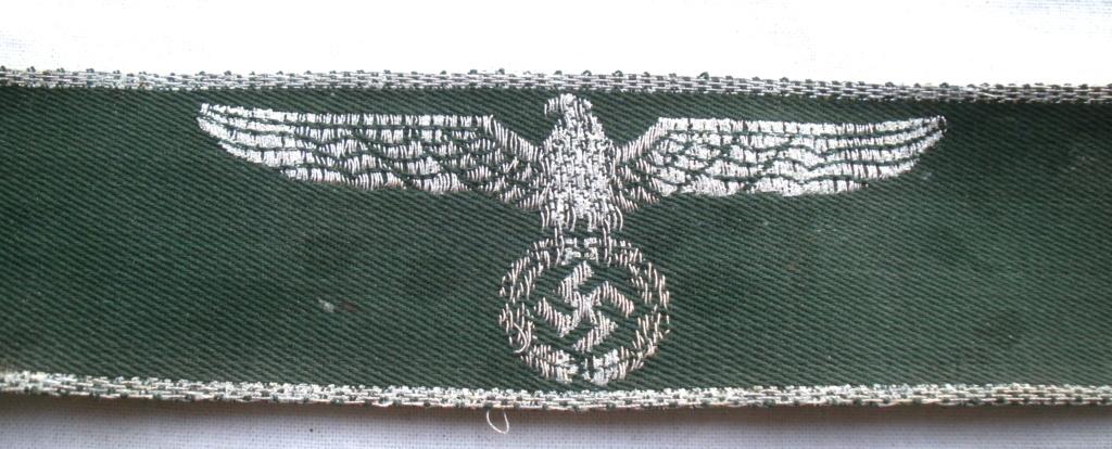 Authentification d'une bande de bras des douanes allemandes P4232812
