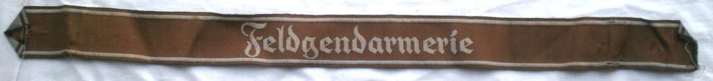 Bandes de bras sous-officier Feldgendarmerie / Afrikakorps. Authentification. P4232817