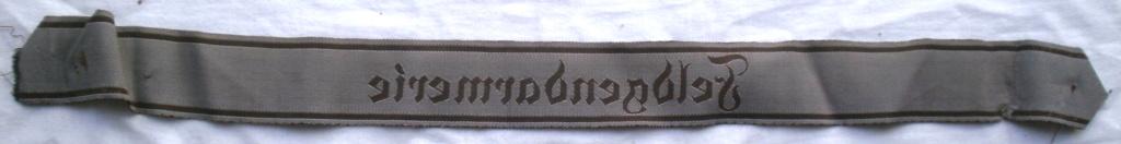 Bandes de bras sous-officier Feldgendarmerie / Afrikakorps. Authentification. P4232818