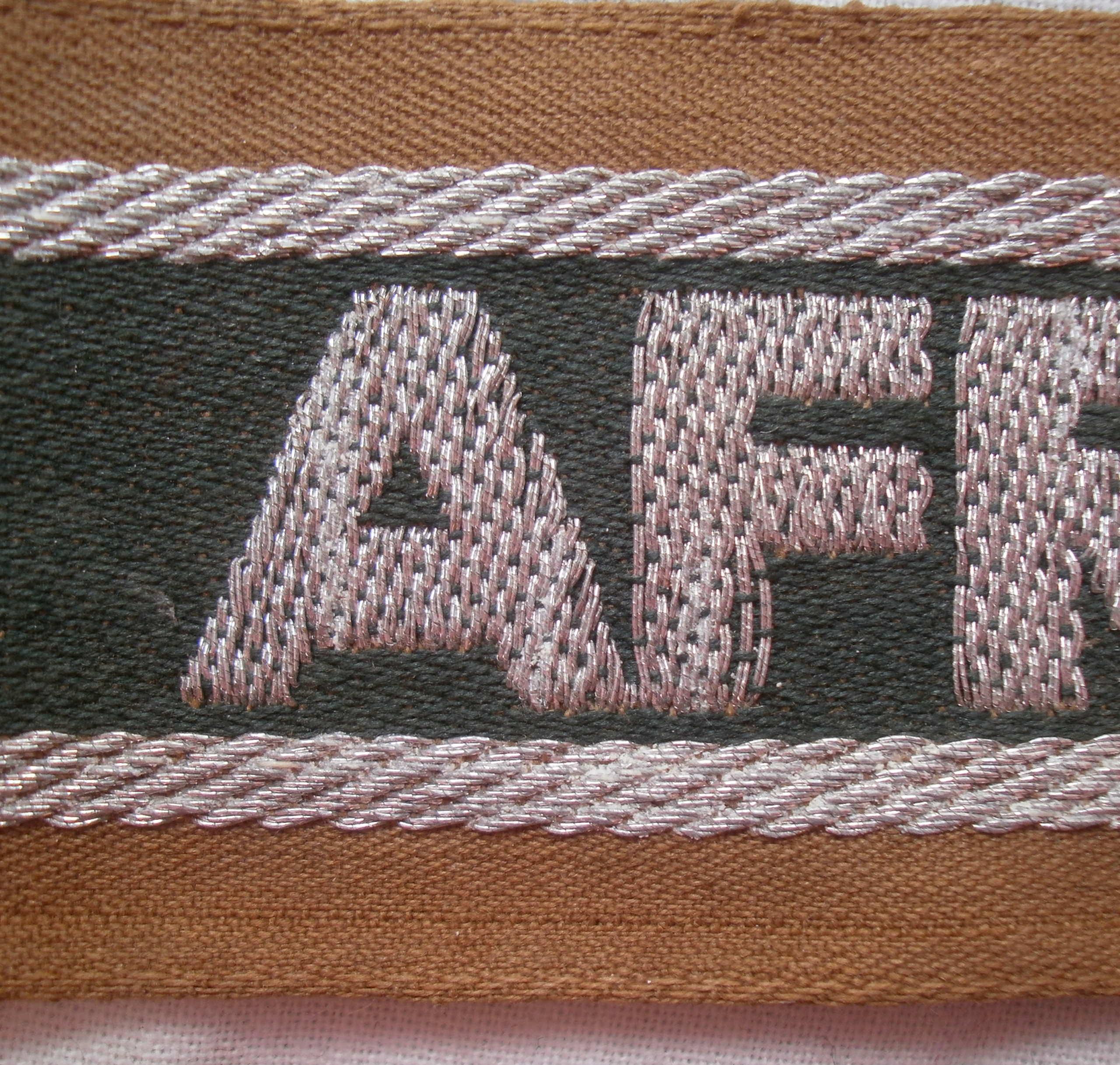 Bandes de bras sous-officier Feldgendarmerie / Afrikakorps. Authentification. P4232825