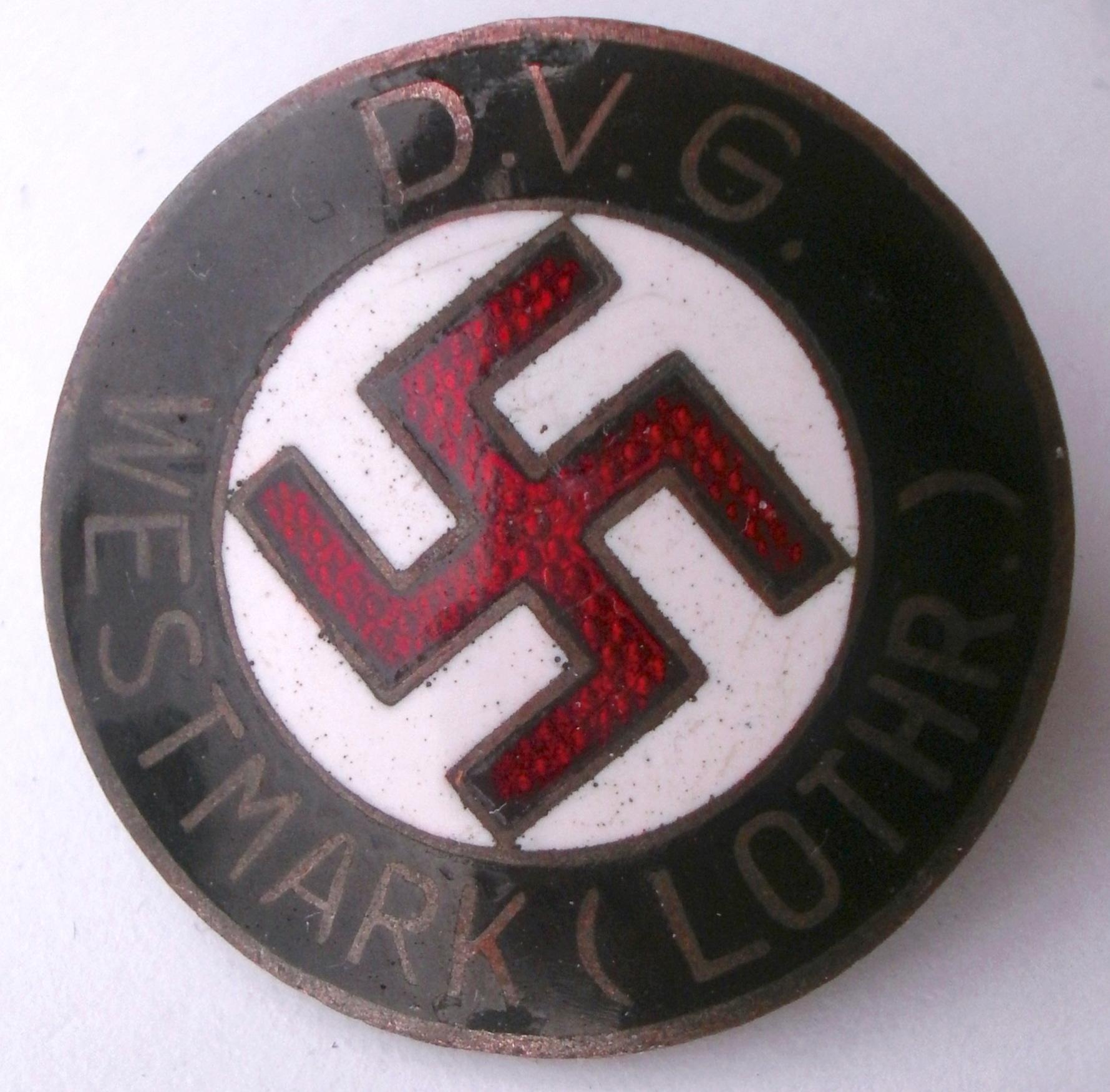 Authentification - Deutsches Volksgemeinschaft Westmark (D.V.G.) Lothringen P5092810
