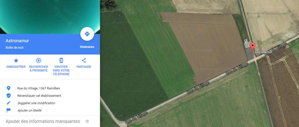 Le site sur Google Maps 33310