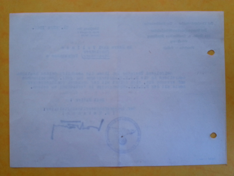 traduction document All avec l'annotation Heil Hit....ww2 20121133