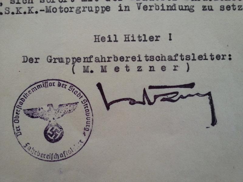 traduction document All avec l'annotation Heil Hit....ww2 20121134