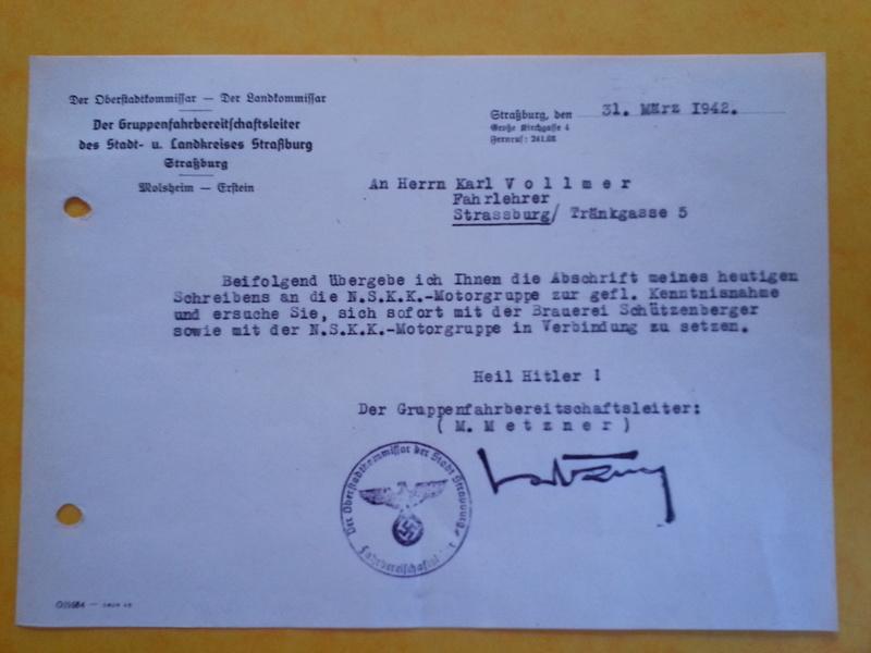traduction document All avec l'annotation Heil Hit....ww2 20121135