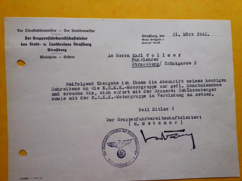 traduction document All avec l'annotation Heil Hit....ww2 20121136