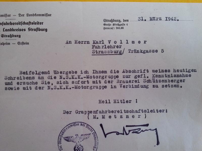 traduction document All avec l'annotation Heil Hit....ww2 20121137
