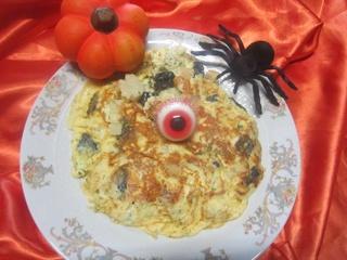 Omelette crème fraiche Halloween. 12189610
