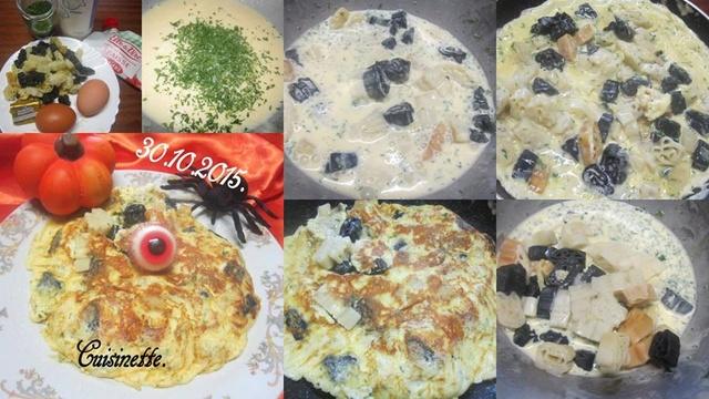 Omelette crème fraiche Halloween. 12190810