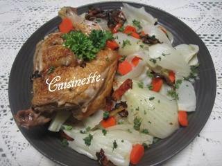 Demi-poulet aux fenouil/carottes. 12400610