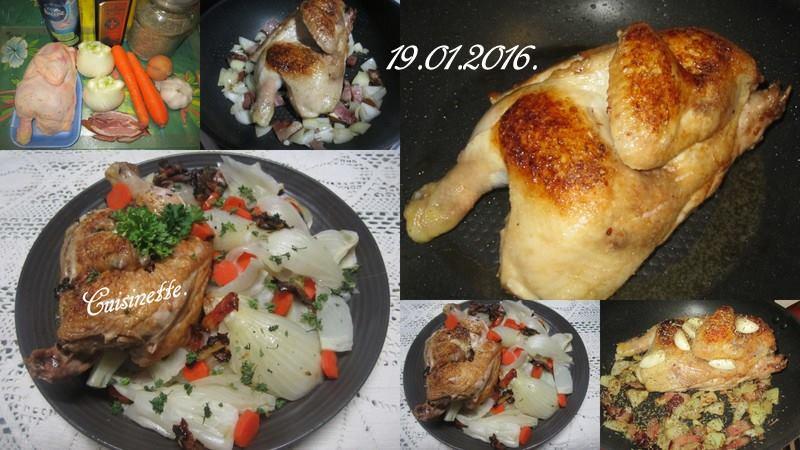 Demi-poulet aux fenouil/carottes. 12507710