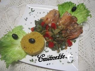 Hauts de poulet aux poivrons. 12508710