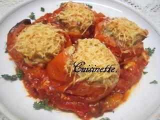 Tomates farcies en omelette. 12573710