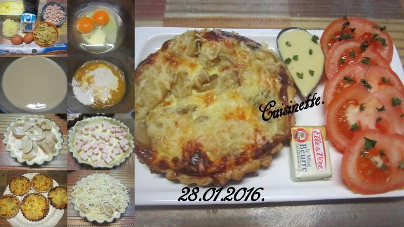 Quiches au jambon et champignons. 12631210
