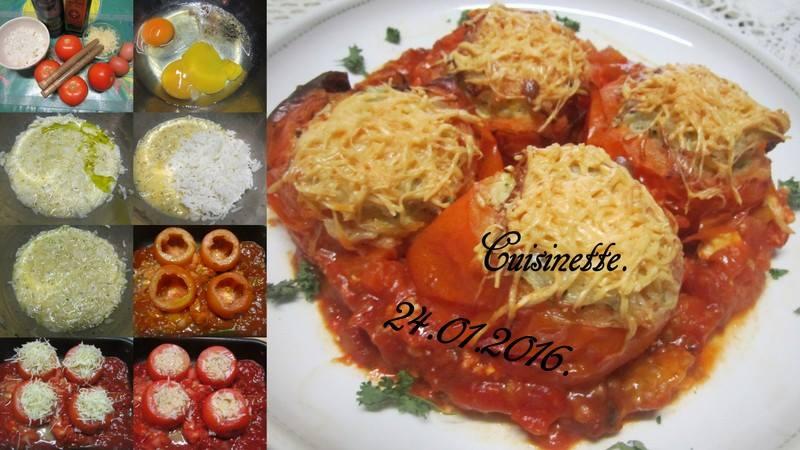 Tomates farcies en omelette. 12631310