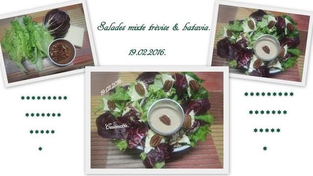 Salades mixte trèvise aux noix de Pécan. 12705310