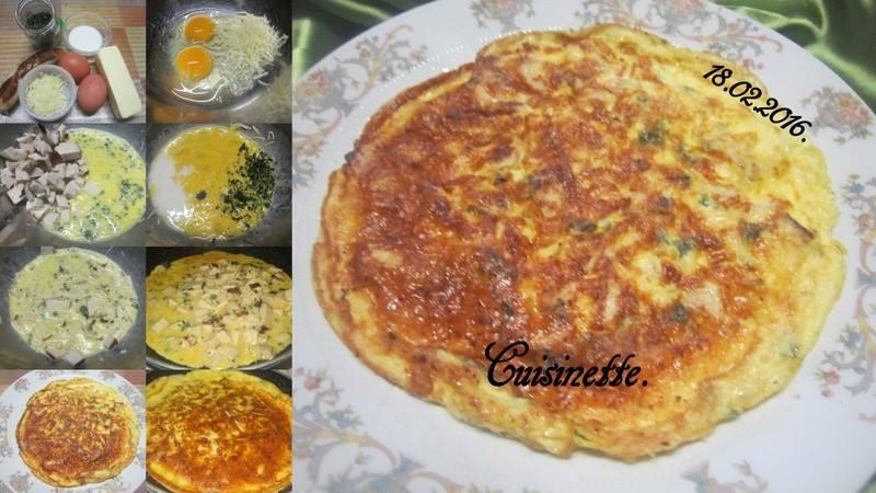 Omelette au boudin blanc. 12705410
