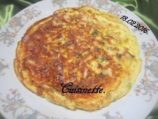 Omelette au boudin blanc. 12733510