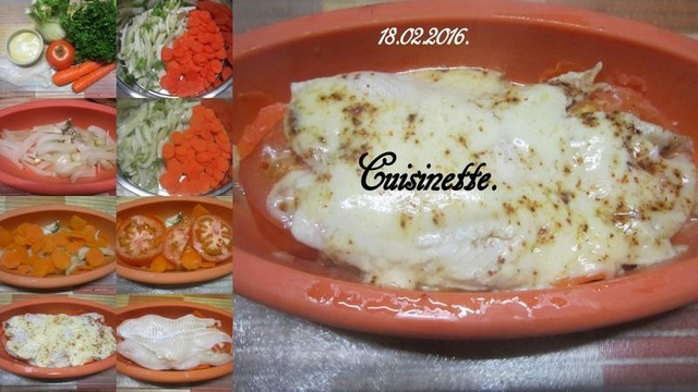 Plie au trio de légumes et fromage. 12744410
