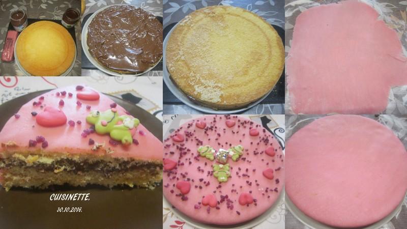Gâteau au chocolat .pâte d'amande.sans cuisson. Gyteau11