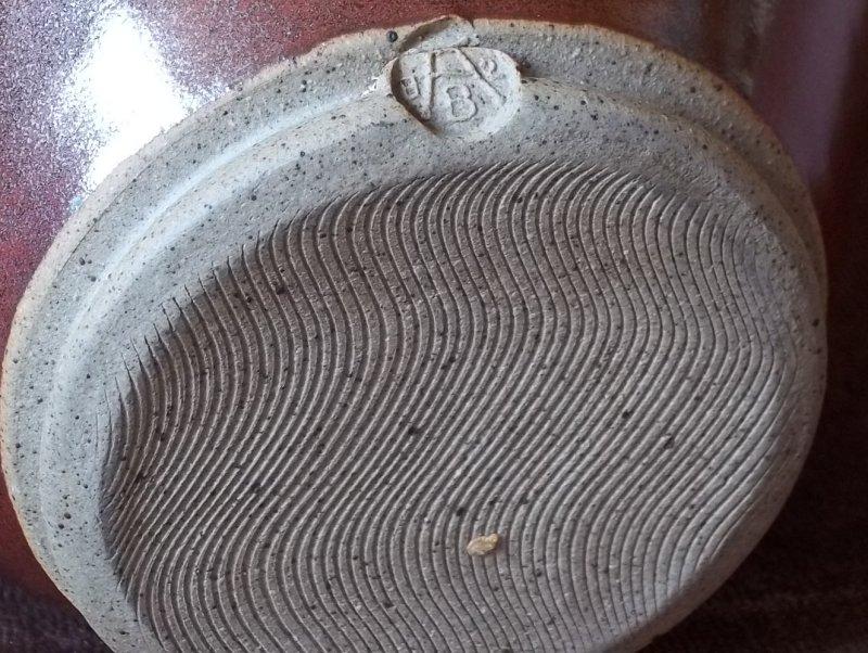 Stoneware jug A over B. 100_3221
