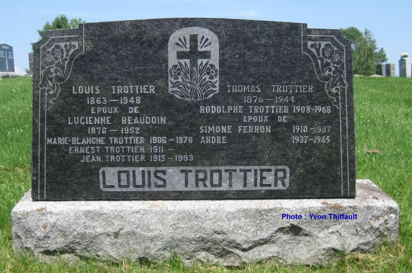 Enfants de Louis Trottier  Tombe_10