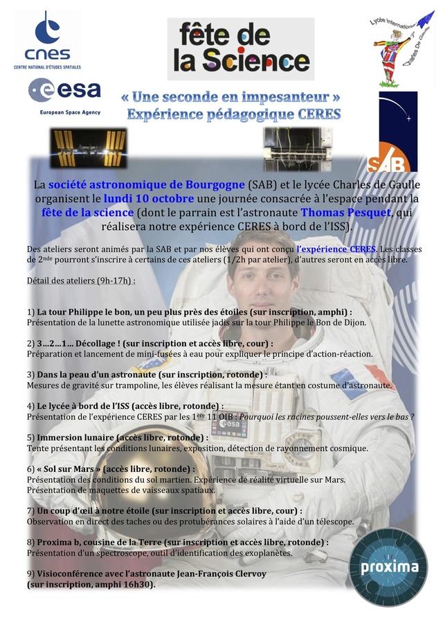 Expériences pédagogiques mission Proxima Thomas Pesquet Fete_s10