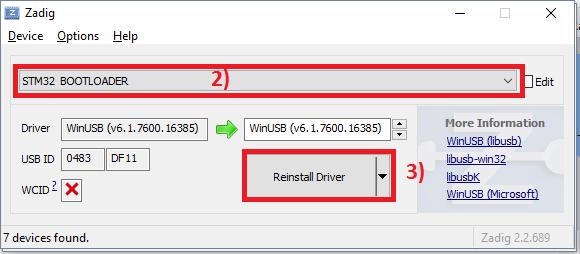 Open TX 2.2 sur HORUS X10(S)/X12S Zadig_10