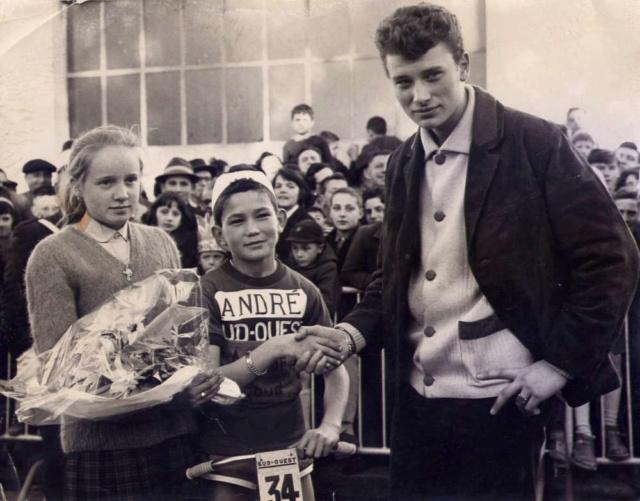 Johnny a La Rochelle en 1961 Johnny14