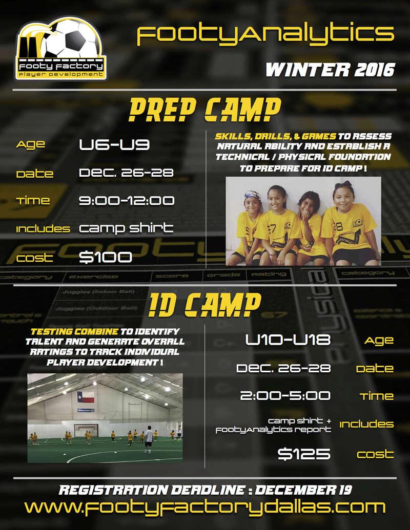 25% OFF - Winter footyAnalytics Camps Footya10