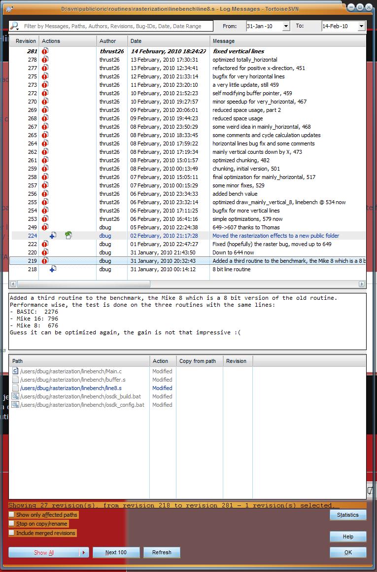 remplissage de l'écran Hires Line810