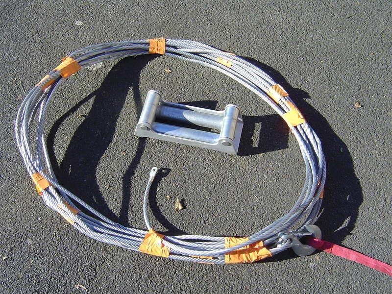 cable et ecubier pour treuil 6 tonnes .... Dsc00526