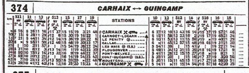 HORAIRES ETOILE DE CARHAIX (RB) 1962-1974/75 Scan19