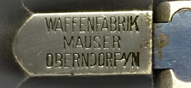 Très beau marquage Mauser ...! 02310