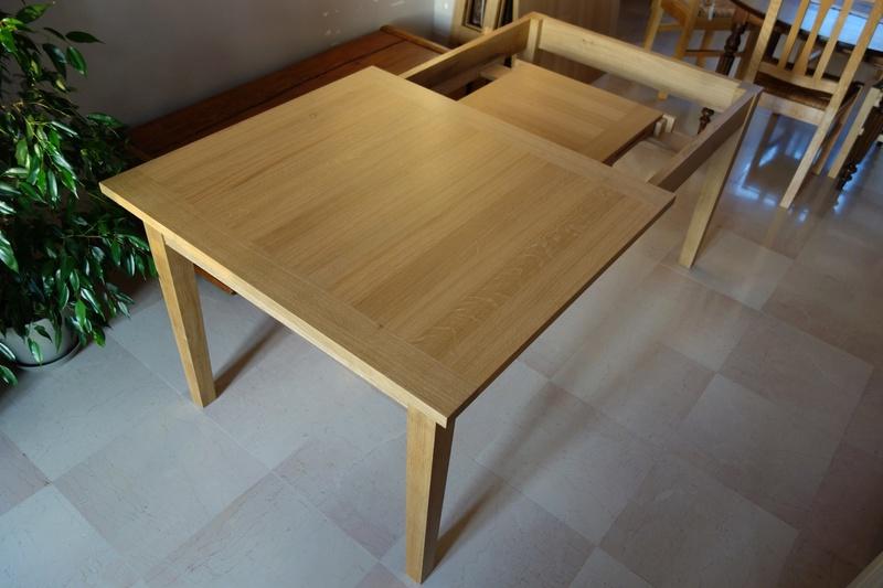 Table de salle à manger en chêne Dsc00823