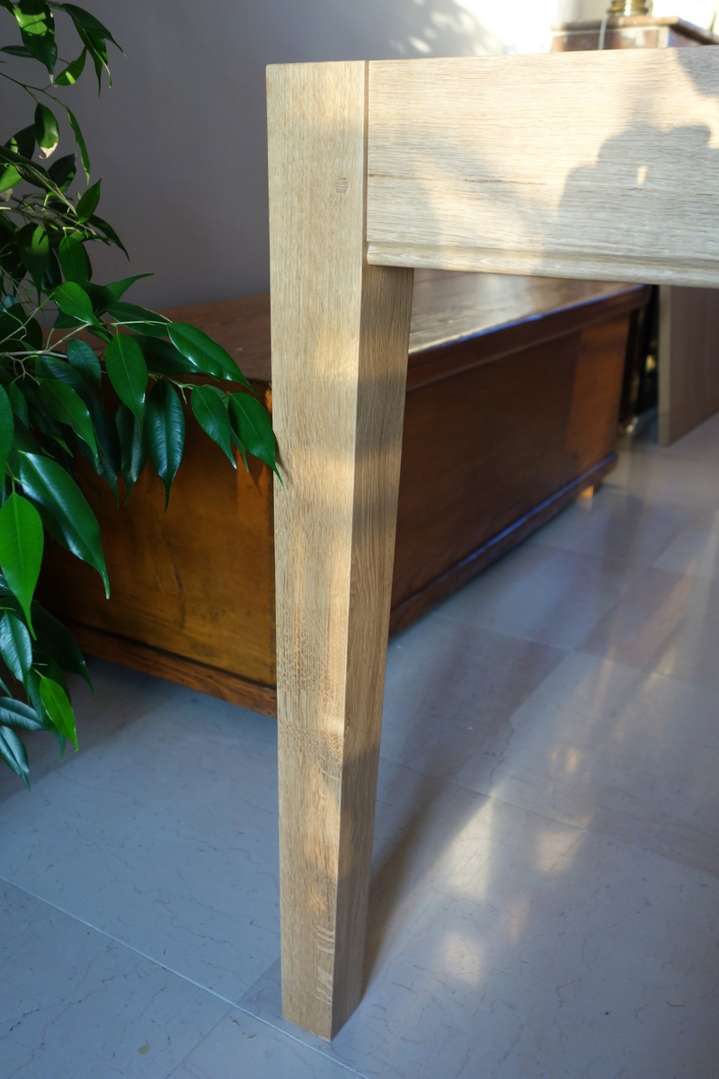 Table de salle à manger en chêne Dsc00911