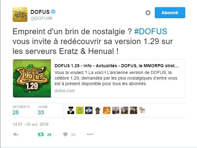 Le retour de la 1.29 !  Dofus111